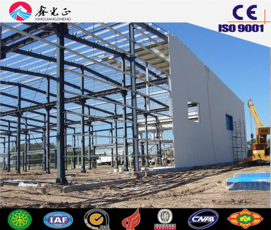 Low Cost Steel Structure Warehouse with ISO9001 (SSW-14339) pictures & photos