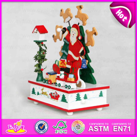 2015 personalized gifts wooden music box for kids home decoration items music box christmas romantic children music toy w07b016b