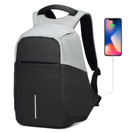 Travel Security Intelligent USB Charging Computer Laptop Backpack Bag for Students