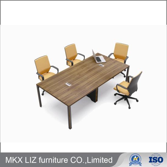 Pleasant Hot Item Metal Frame Simple Small Rectangular Melamine Conference Meeting Table C2422 Creativecarmelina Interior Chair Design Creativecarmelinacom