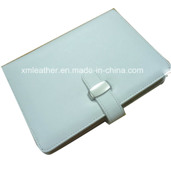 Business Gift Refillable Leather Notebook with Buckle Closure