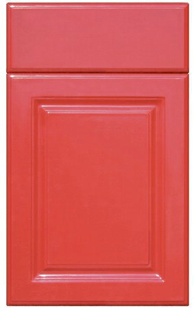 Red Color Lacquer Cabinet Doors