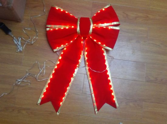 red lighted christmas bows wholesale