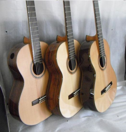 Wholesale Handmade All Solid Classical Guitar with Raised Fingerboard Design pictures & photos