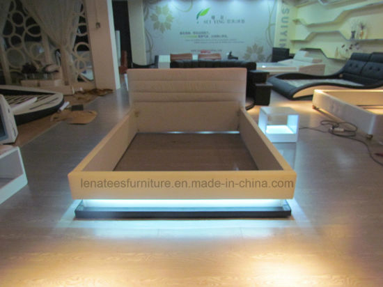 A507 LED Lighting Leather Bed 2016 pictures & photos