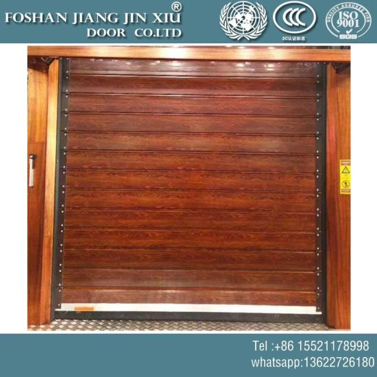 China Automatic Wooden Paint Garage Rolling Door Roller Shutter