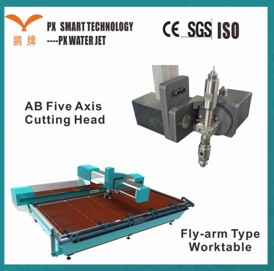 Px Professional CNC 5 Axis Water Jet Cutting Machine for Copper Plate Cutting