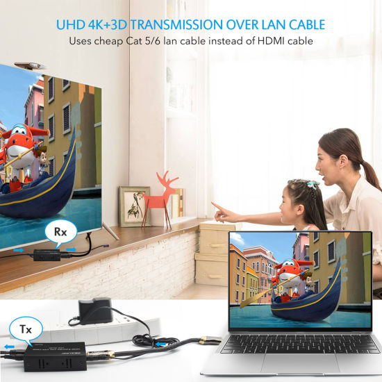 4K HDMI Extender 60m by Single Cat5e/6 Cable with IR, EDID pictures & photos