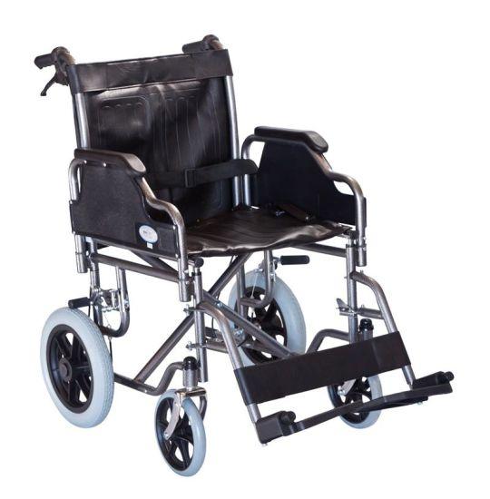 Heavy Duty Handicapped Hospital Folding Manual Lightweight Wheelchair