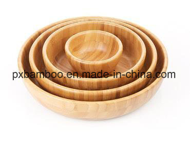 100% Bamboo Salad Bowl From China Supplier pictures & photos