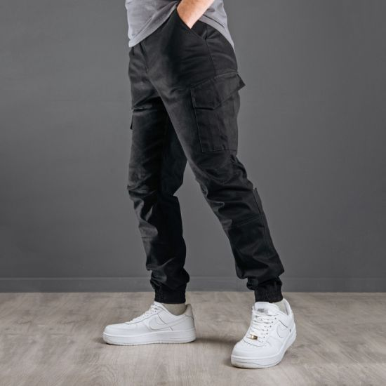 New Collection Mens Stretch Cargo Pants Fashion Twill Jogger Pants