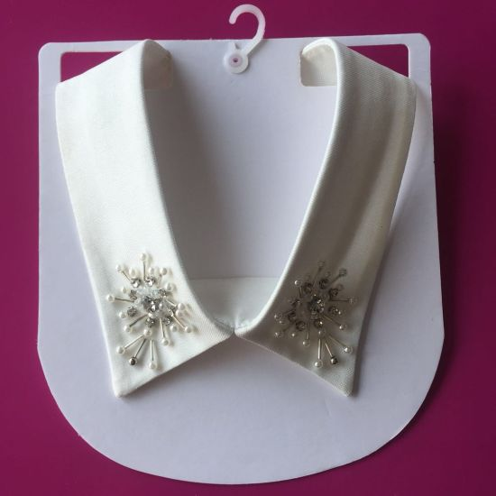 The Most Fashionable Handmade Pearl and Crystal Rhinestone Collar Neckline for Shirt Garment
