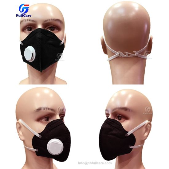 Valved Ffp1 Folding Respirator Anti-haze Dust Mask Ffp2 With Non-woven Valve Mouth Anti-pollution N95
