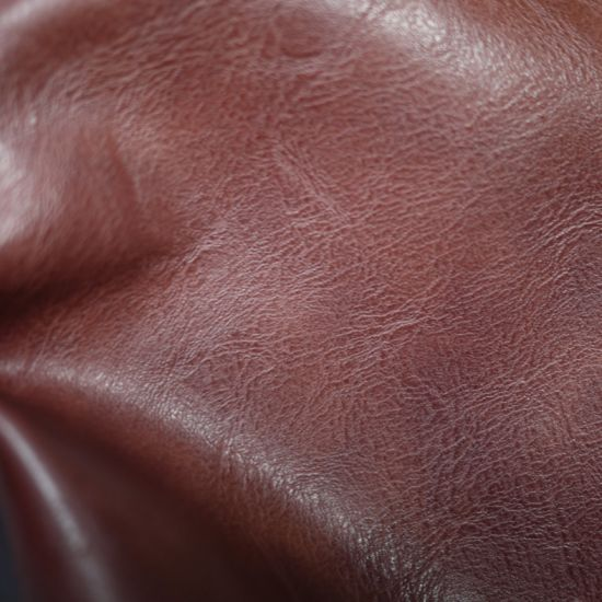 Artificial PU Leather for Bag Double Color Effect Environmental Friendly