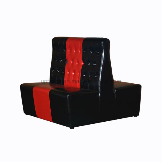 2018 Durable Red and Black Restauant Leather Furniture (SP-KS417) pictures & photos