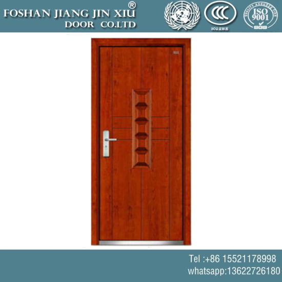 Single Iron Plastic Wood Steel Flush Security Exterior Door pictures & photos