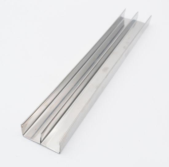 U Shape Chrome Metal Strips Tile Edge Strip for Hotel Decoration