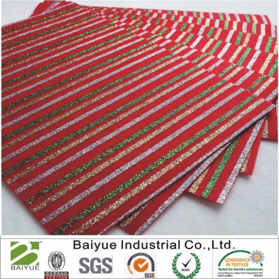 Roll Sparkle Glitter Strips Christmas Print Felt for DIY Crafts