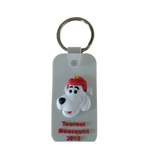 Custom Animal PVC Keychain for Gift Wholesale 3D Soft PVC Keyrings with Personal Design Words Cheap Wholesale 3D PVC Heart Shape Colorfull Keychains