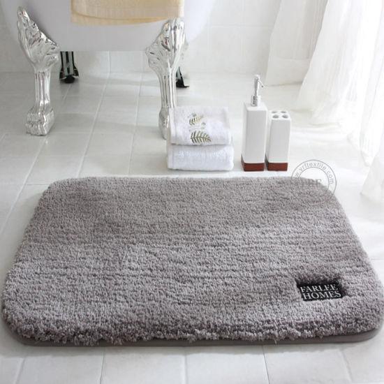 China Bathroom Rug Mat, White Fluffy Bathroom Rugs