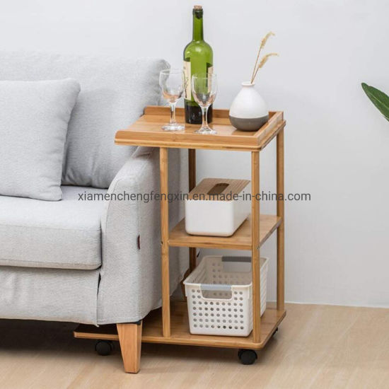 China Sofa Corner Snack Tablet For Living Room Side Table With Storage Shelves Picnic Stand - Side Table With Storage Shelves