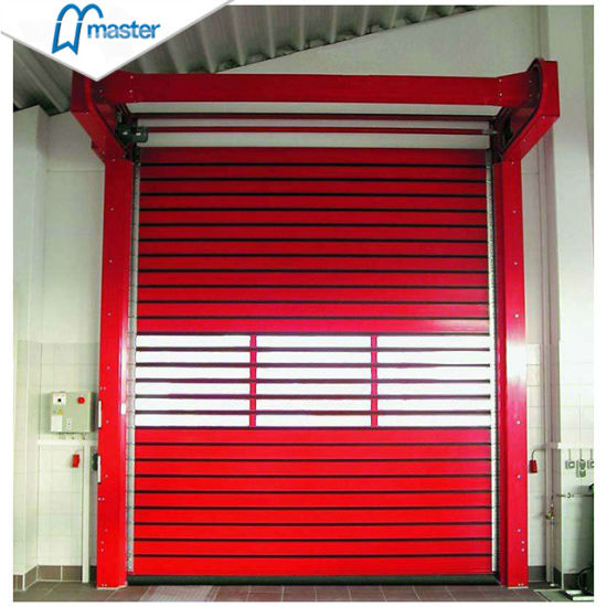 Factory Fast Opening Commercial High Speed Rapid Aluminum Alloy Shutter Door