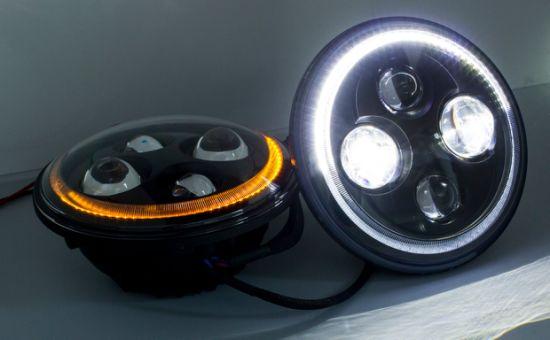 DOT/ECE 7 Inch LED Vehicular Headlights High/Low Beam for Jeep Warangler/Harley Davison with DRL /Turn Signal