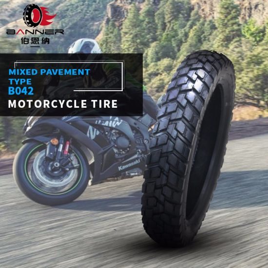 20 Years ISO9001 Factory Customized Motorcycle /Motocross Rubber Tubeless/Tube Motorcycle Tires/Tyre B042 110/90-16 110/90-17