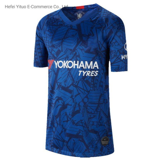 Wholesale Kante 7 Knitted Fabric Breathable Chelsea Soccer Garment pictures & photos