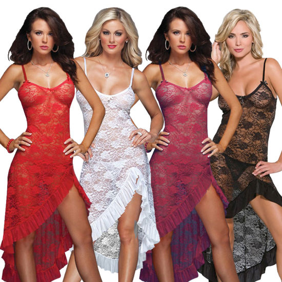 Hot Sale Plus Size Women Sexy Lace Sleepwear