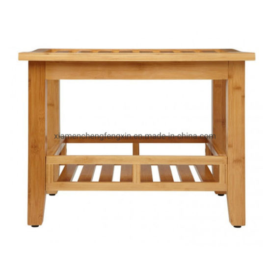 Bamboo Wooden Shower Bath Seat Bench