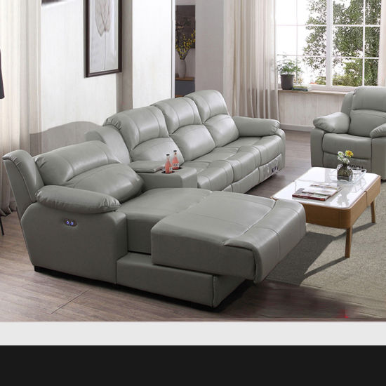China Movie Furniture Leather Recliner