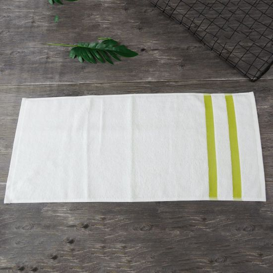 Wholesale Cotton Terry Fabric White Gift Hand Towel Bleached