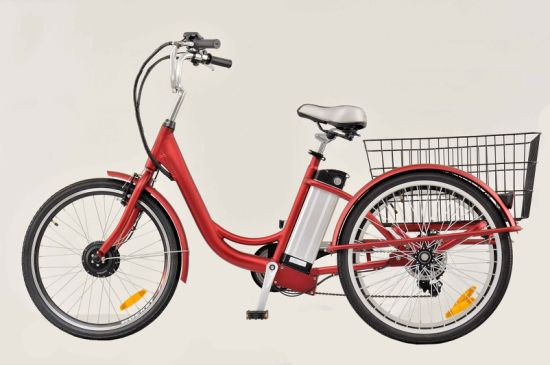 "24"" Aluminum Frame Electric Tricycle with 250W Motor"