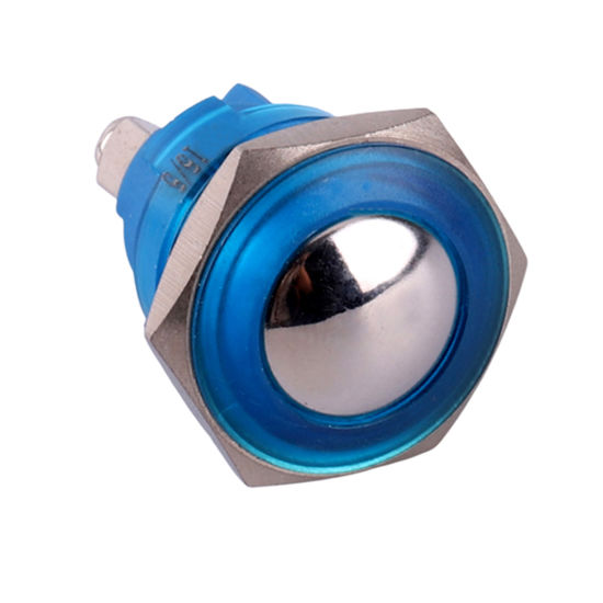 16mm Domed 2A 36VDC Waterproof Plastic Momentary Push Button Switch