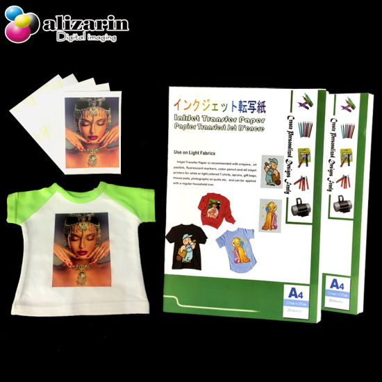 Hot Peel A4 Inkjet Heat Transfer Paper for T-Shirt Use pictures & photos
