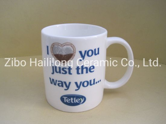 11oz High White Porcelain Mug Stronger Porcelain Mug with Logo