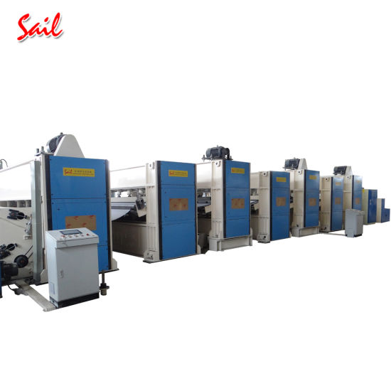 Nonwoven Laminated Carpet Making Machine PVC Stripe Carpet Needle Loom Machine Needle Punching/Punched Production Line pictures & photos