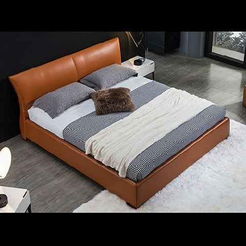 Modern Fabric Folding Sleeper Sofa Bed with Twin Headboard