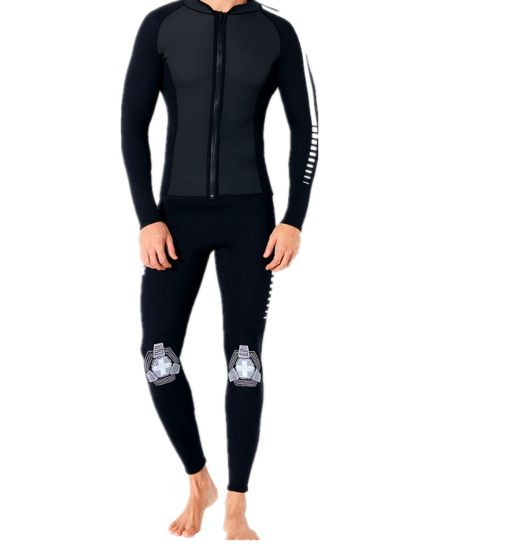2mm Unisex Two-Piece Surfing Suit for Swim Wear