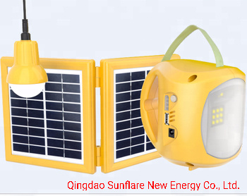 Shandong Qingdao Rechargeable Solar LED Camping Light Lamp Lantern with AC Adaptor/USB Charging Mobile Phone pictures & photos