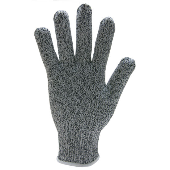 Gray PU Palm Dipped Cut Proof Protection Glove Ce 44c42