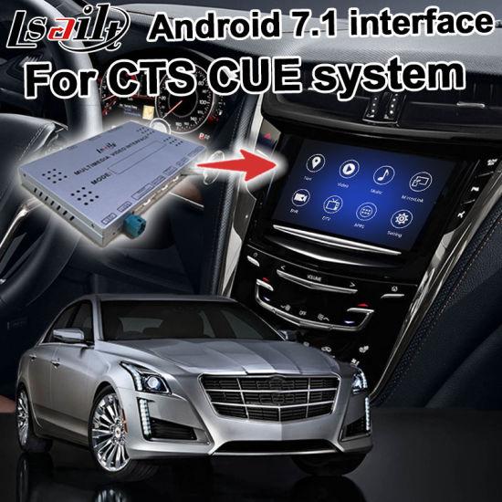 Lsailt Android GPS Navigation Box for Cadillac Cts etc Cue System Video  Interface Box Upgrade Carplay Navigation, Cast Screen, Mirrorlink, Google  Map