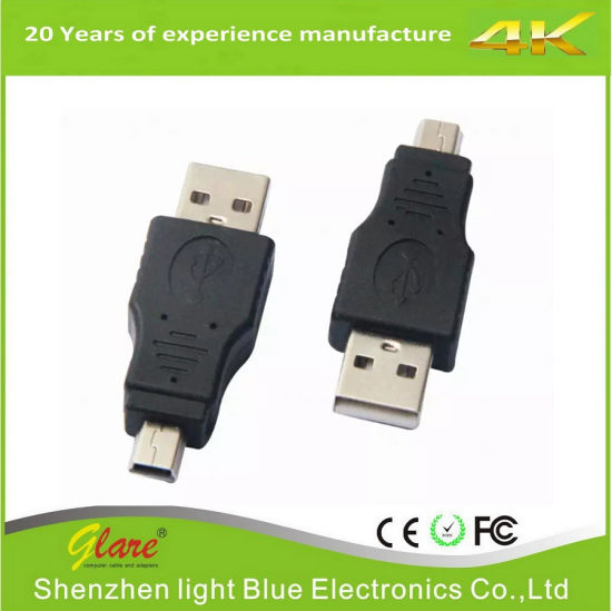 Wholesale a Female USB Af to Micro USB Adapter 5 Pin Male OTG Adapter pictures & photos