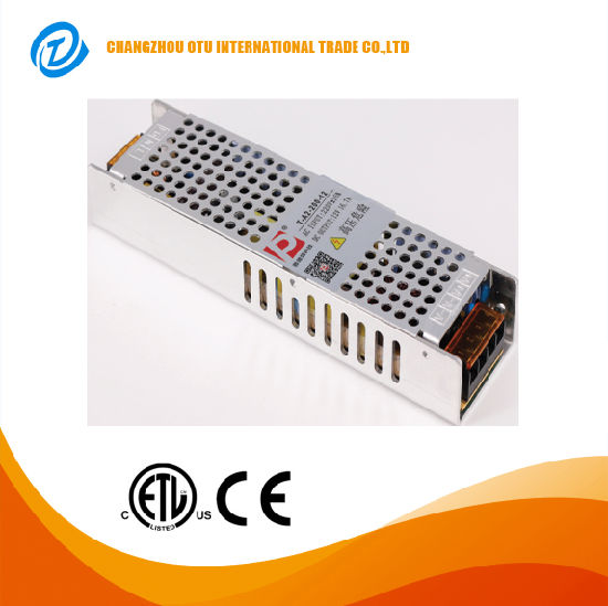 200W China Factory AC110V/220V DC5V 12V 24V 48V for LED Strip Light Slim Single Output Swtiching Power Supply pictures & photos