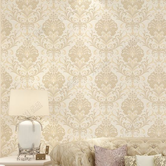 China Italian Style Damask Big Flower Design Classic Wallpaper For