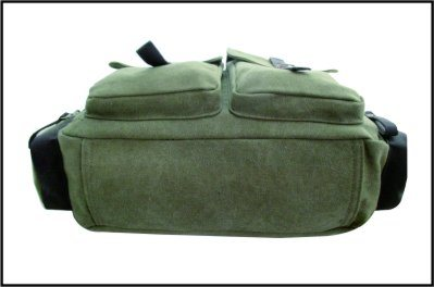 Army Green Vintage PU Canvas Messenger Bag pictures & photos