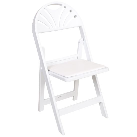 Fan Back White Folding Chair Wholesale Dining Furniture pictures & photos