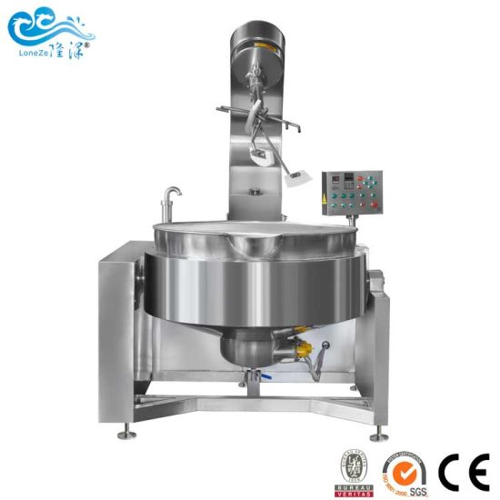 Automatic Gas Planetary Stirring Cooking Mixer for Vegetarian Sauce Bean Paste Jacketed Kettle