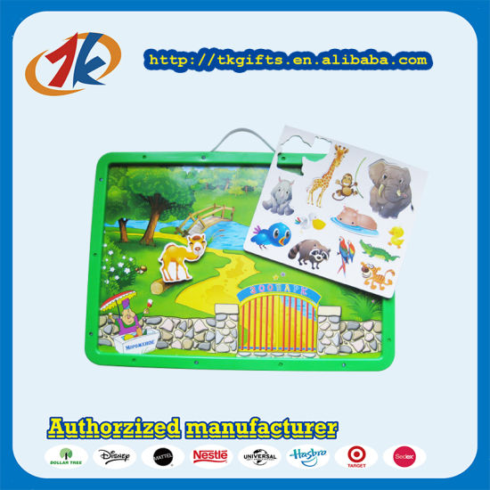 China Supplier Environmental Animal Zoo Magnetic Writing Board Toy